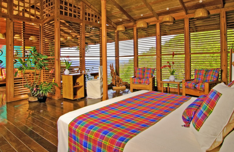 Guest room at Anse Chastanet Resort.