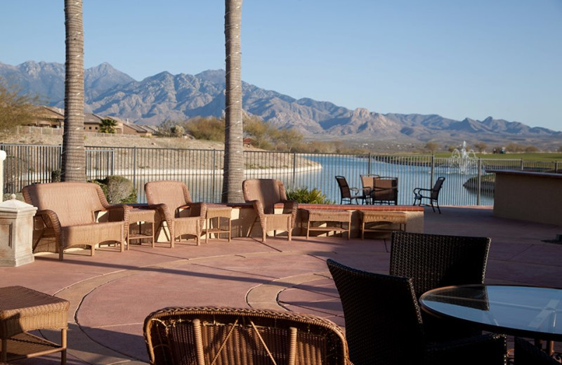 Outdoor Patio at Wyndham Ranch Resort