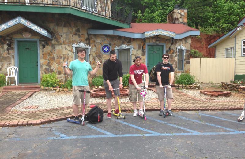 Group at The Heidi Motel.