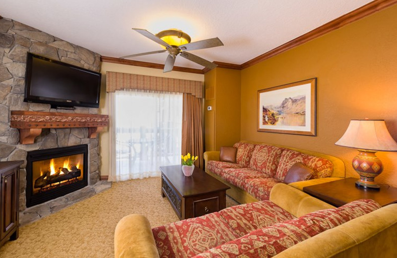 Guest living room at Westgate Park City Resort & Spa.
