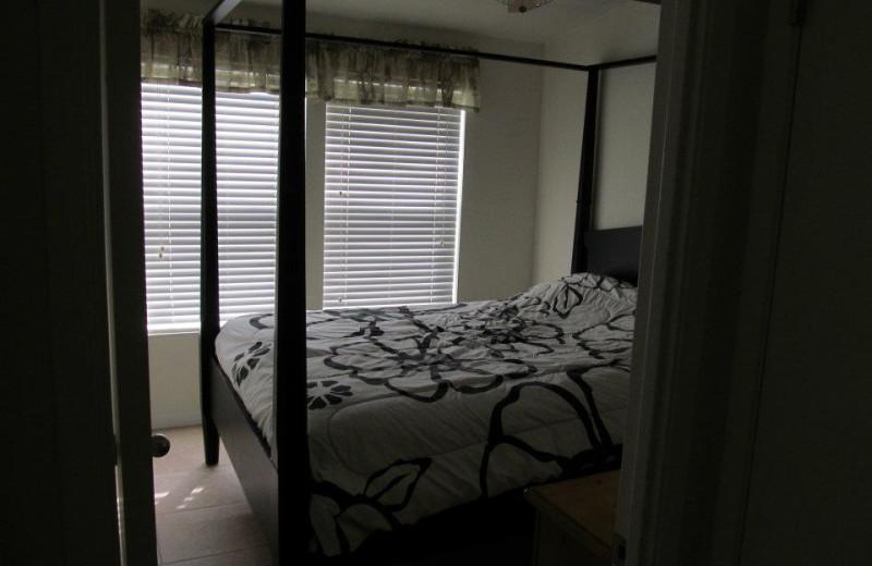 Cabin bedroom at Pleasure Cove.