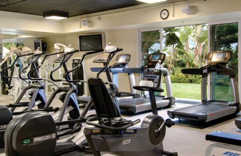 Fitness room at Loews Coronado Bay Resort.