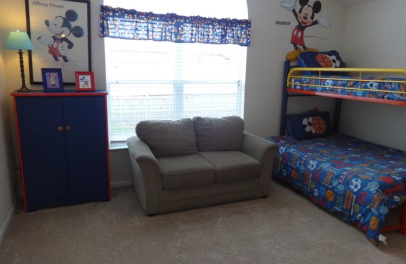 Rental bedroom at Orlando Sunshine Villas.