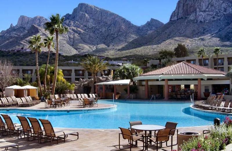 Outdoor pool at Hilton Tucson El Conquistador Golf & Tennis Resort.