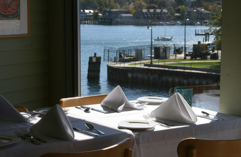 Dining at Edgewater Inn on the Harbor.