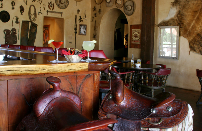 The bar at Stables Ranch Grille at Tubac Golf Resort & Spa.