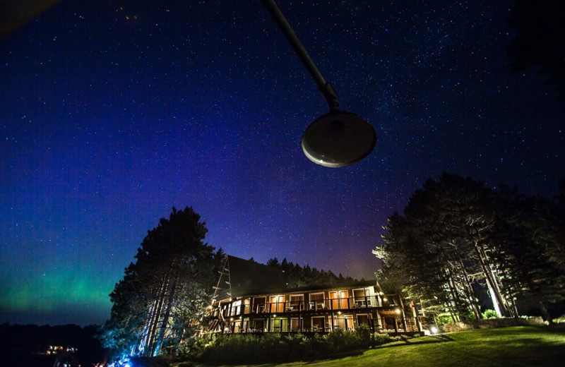 Night sky at Sojourn Lakeside Resort.