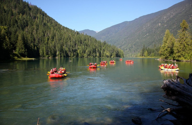 Rafting groups at REO Rafting Resort.