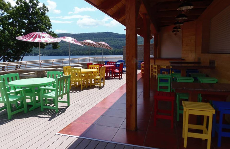 The Rooftop Cabana Bar at Surfside on the Lake.