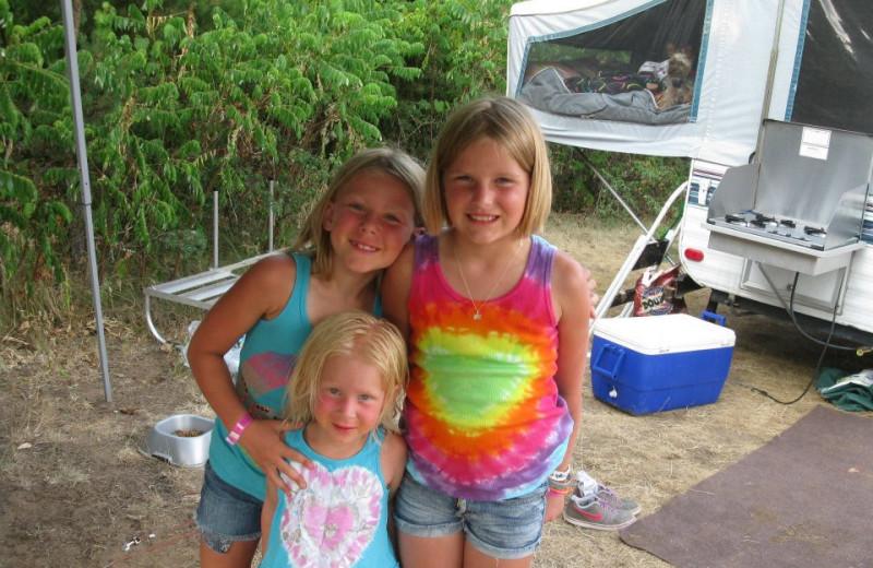 Enjoying Their Stay at Smokey Hollow Campground