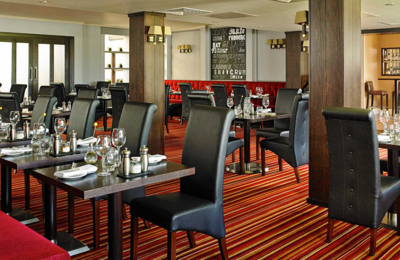 Dining at York Marriott Hotel.