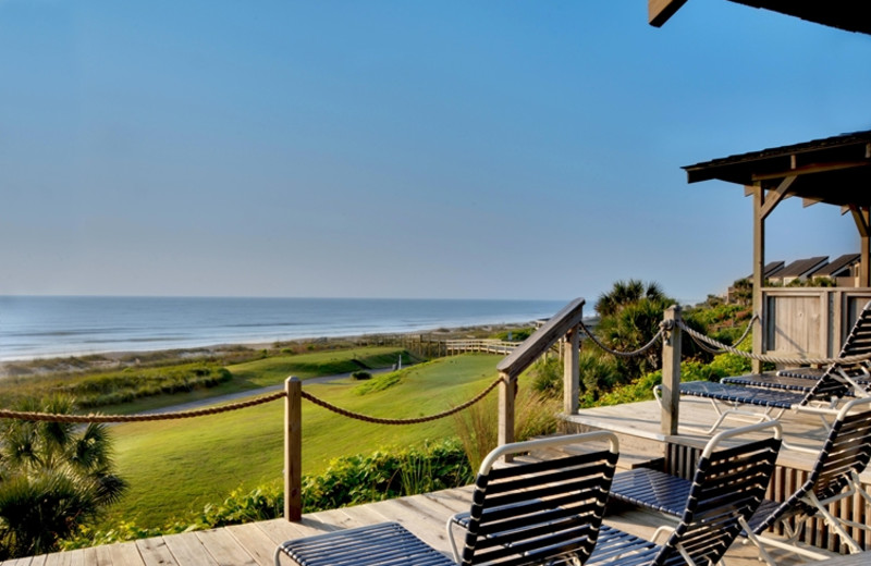 Porch view at The Villas of Amelia Island Plantation.