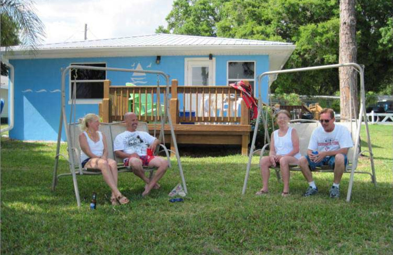 Family at Lake June Vacation Resort.