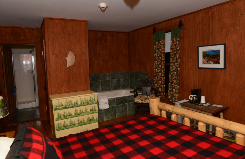 Guest room at The Woods Inn.