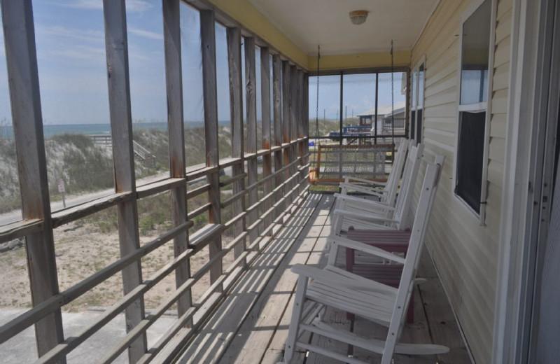 Rental deck at Island Real Estate. Inc.