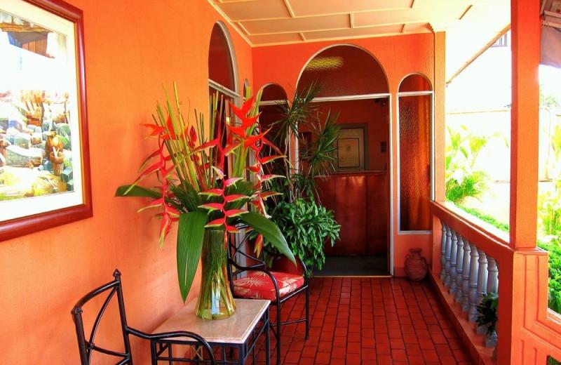 Porch at Hotel Vesuvio.