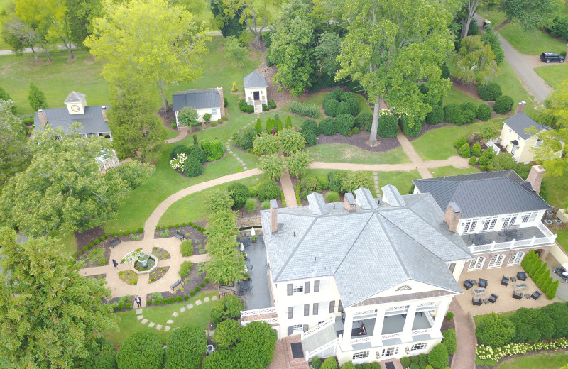 Aerial view of The Inn at Willow Grove.