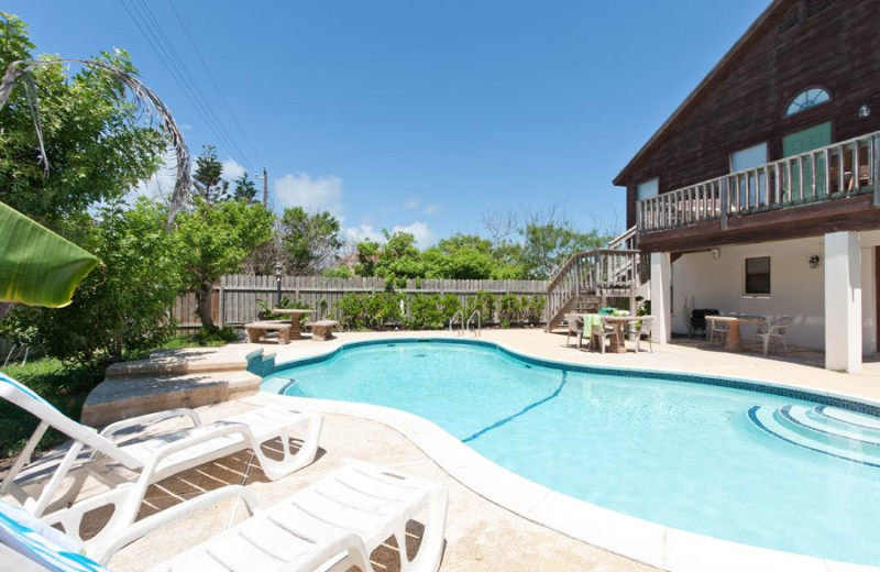 Rental pool at Padre Island Rentals.