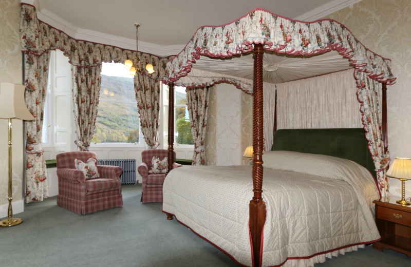 Guest room at Glengarry Castle Hotel.