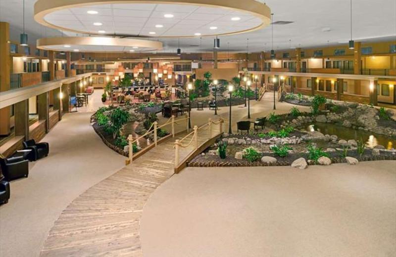 Lobby at CoCo Key Water Resort- Holiday Inn Omaha Convention.