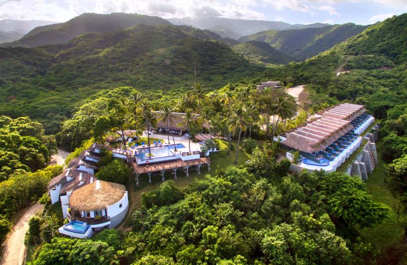 Aerial view of Casa Bonita.