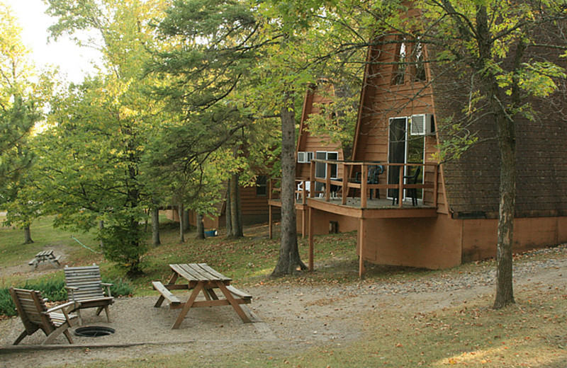 Cabin exterior at Little Norway Resort.