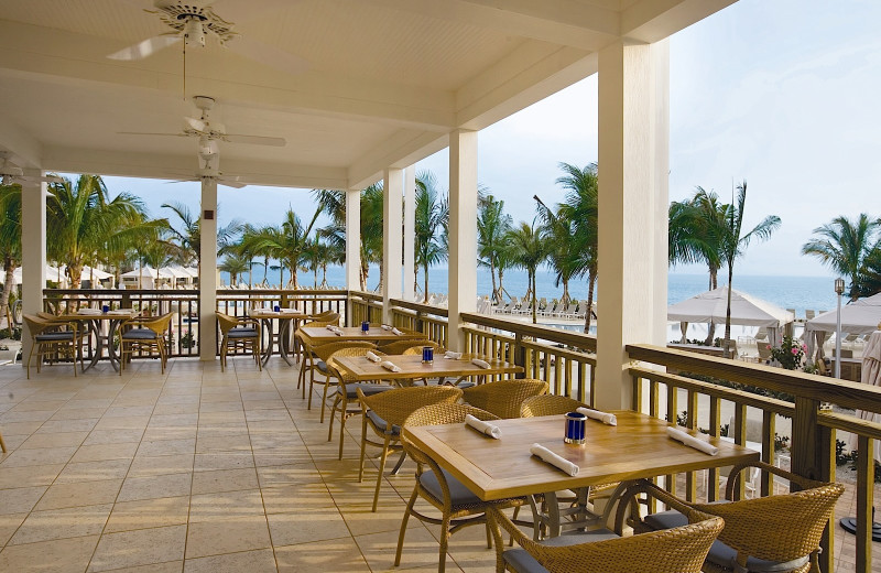 Dining area at South Seas Island Resort.