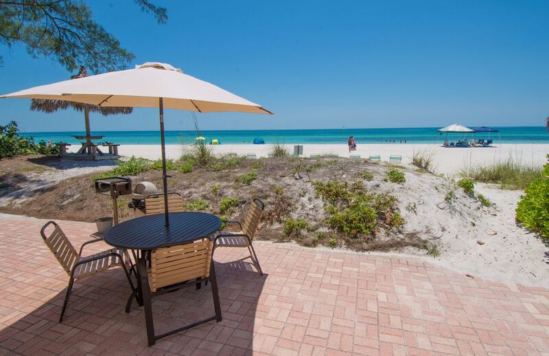 Guest patio at Anna Maria Island Inn.