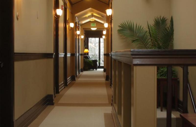 Hallway at Lake View Hotel.