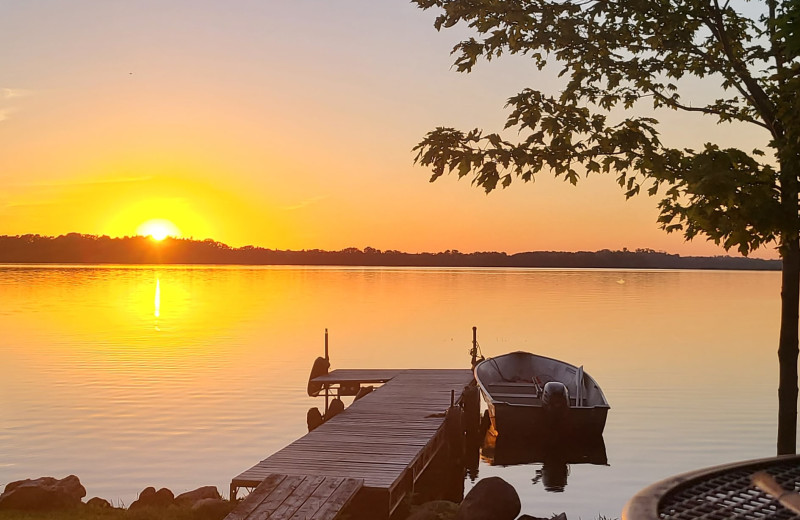 Sunset at Ten Mile Lake Resort -Otter Tail Country Lakes Tourism.