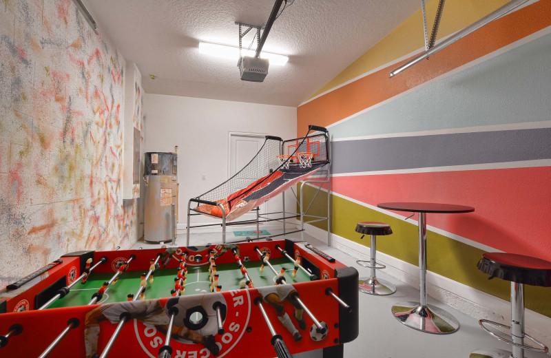 Rental rec room at Vacation Pool Homes.
