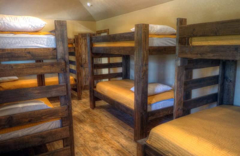 Rental bunkbeds at Frio River Vacation Rentals.