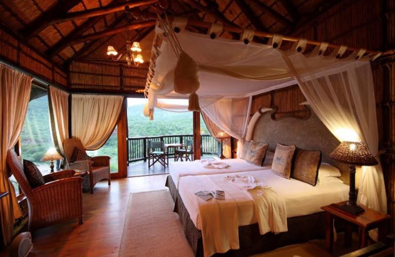 Guest room at Mkuze Falls Game Lodge.