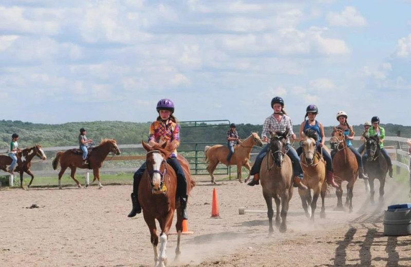 Horseback riding at Silver Sage Guest Ranch Camping.