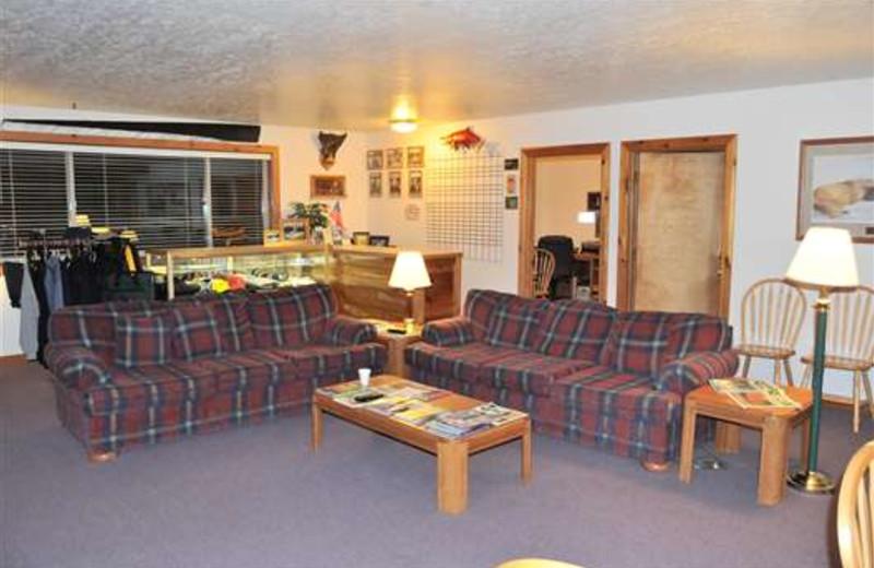 Lobby at Gone Fishin' Lodge.