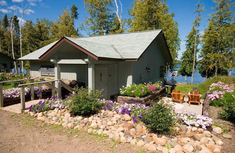 Cabin exterior at Gunflint Lodge.