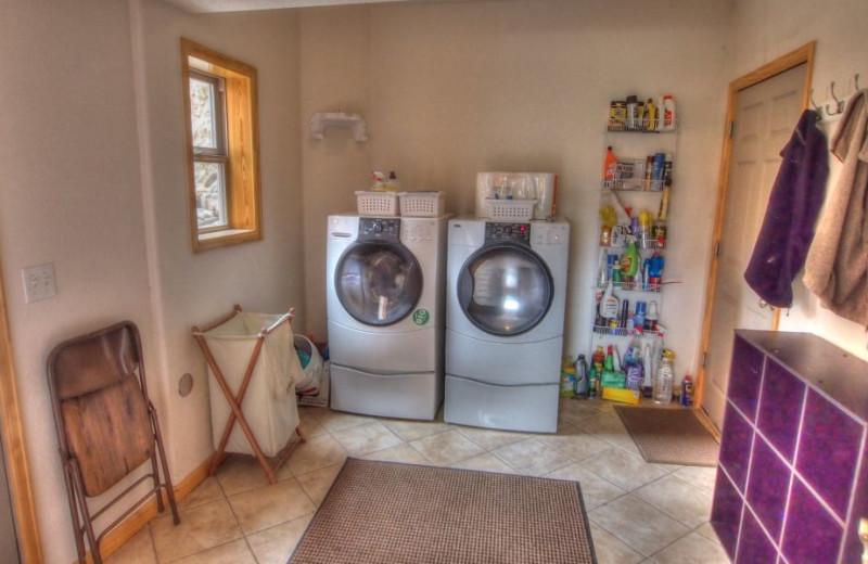 Vacation rental laundry room at SkyRun Vacation Rentals - Nederland, Colorado.