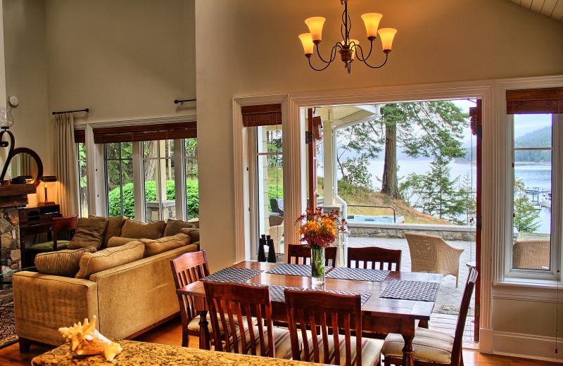 Guest living room at Poets Cove Resort & Spa.