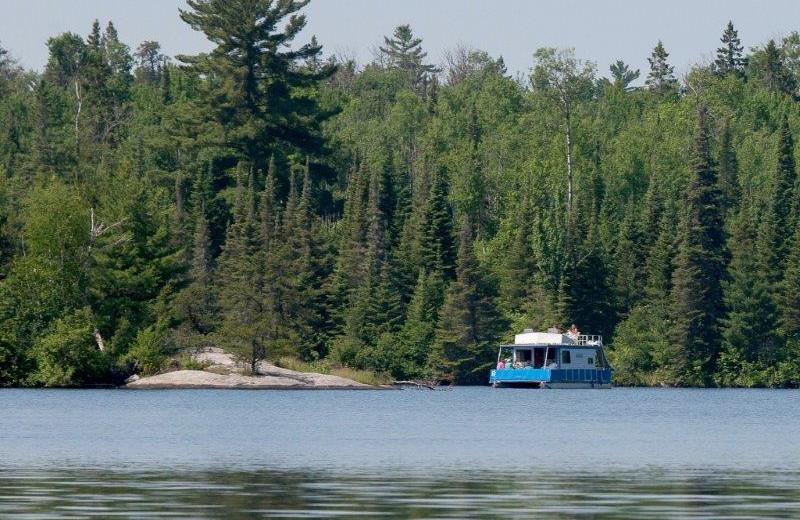 Houseboat on lake at Timber Bay Lodge & Houseboats.