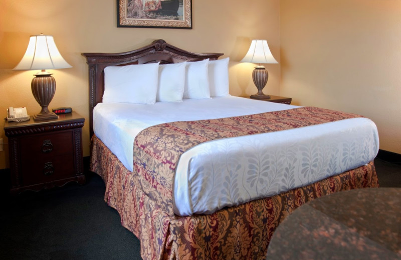 Guest room at The Branson Stone Castle Hotel & Conference Center.