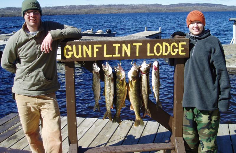 Fishing at Gunflint Lodge.