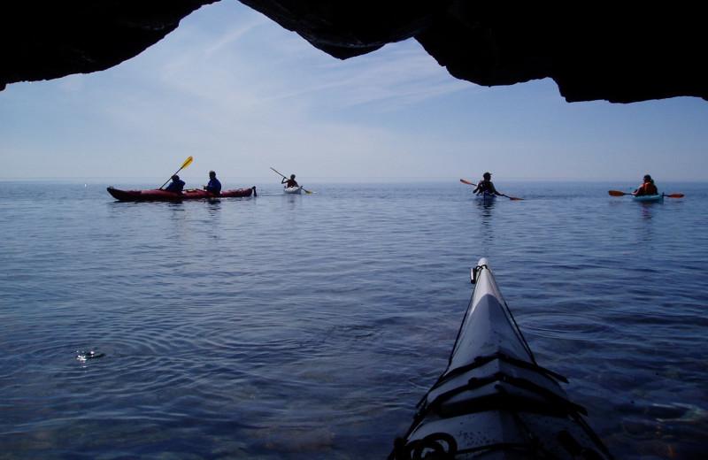 Canoeing at The Mountain Inn at Lutsen.