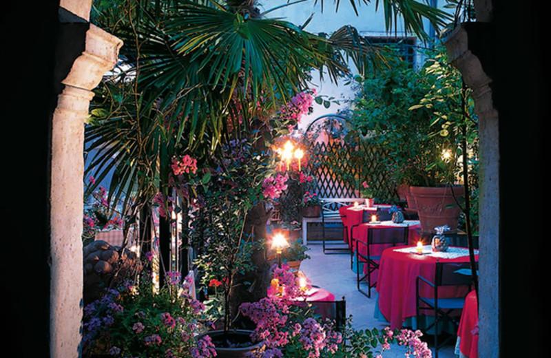 Dining at Hotel Gabbia d'Oro.