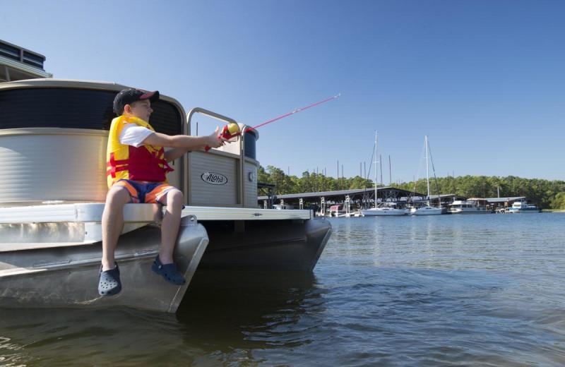 Fishing at Mountain Harbor Resort & Spa.