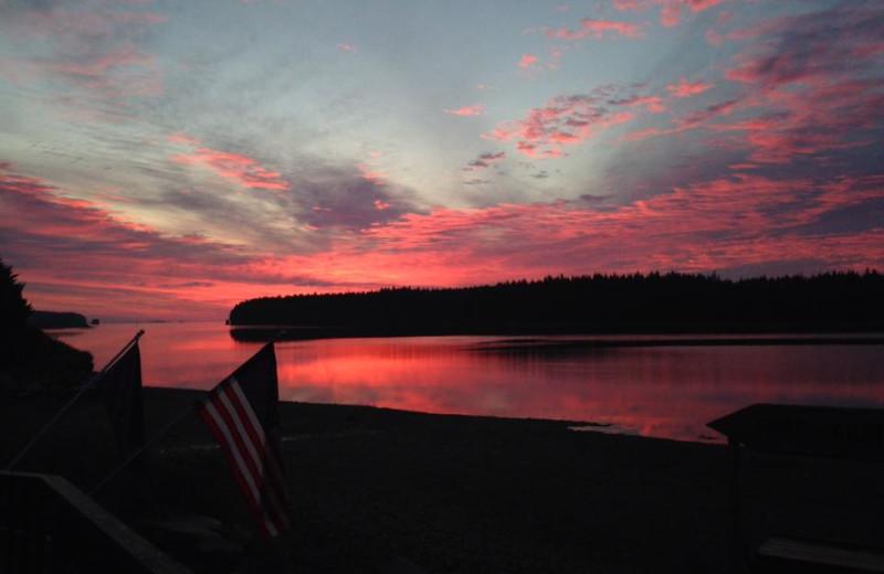 Sunrise at Port Lions Lodge.