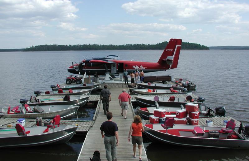 Plane at Maynard Lake Lodge and Outpost.