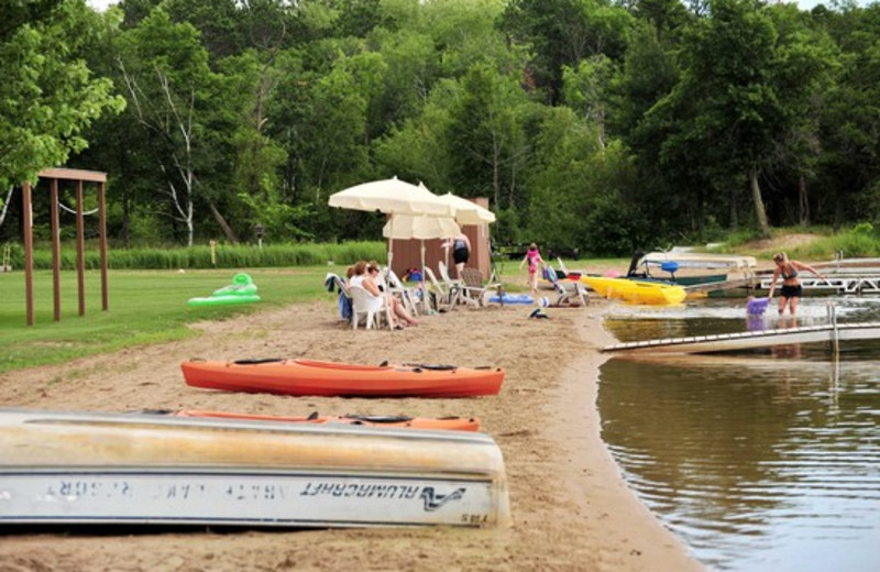 Beach fun at Agate Lake Resort.