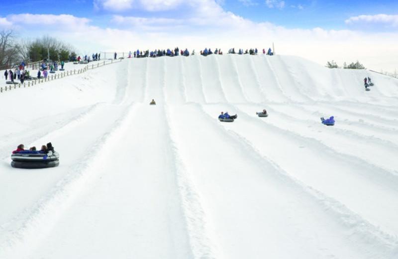 Snow tubing at Heritage Hills Golf Resort.
