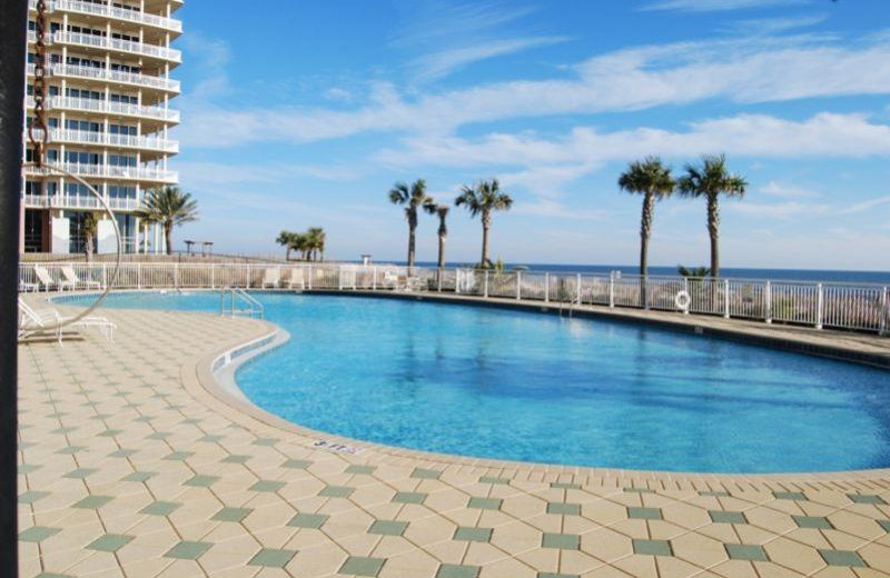 Outdoor pool at Beach Colony Resort.