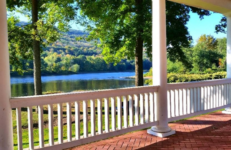 Porch at The Shawnee Inn and Golf Resort.